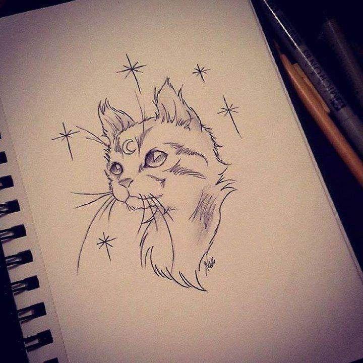 Beaucoup de mal à me poser, à me concentrer, et à empoigner mes crayons en ce second. Juste un chaton, pour reprendre en douceur.. #doodle #dessin #moon #chat #chaton #cat #catsofinstagram #kitten #cute #neotraditional #tattoo #tattoodesign #art work #blac