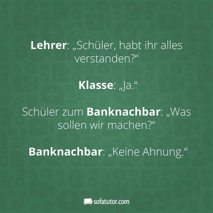 Mehr witzige Sprüche gibt's hier: magazin.sofatutor.com/lehrer/