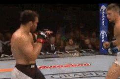"😬 one hell of a kick. Wheel Kick knockdown by Stephen ""Wonder Boy"" Thompson #UFC"