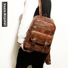 2015 nuevo lujo Retro moda piel bolso mujer señora mochila Casual colegio bolsas para adolescentes portatil de viaje niña mochilas(China (Mainland))