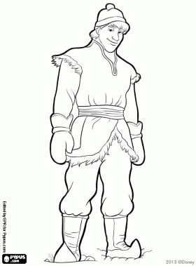 coloring pages frozen kristoff actor - photo#2