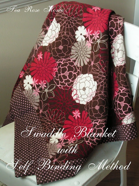 Tea Rose Home: Tutorial ~Swaddle Blanket with Self Binding Method~: Tutorial Swaddle, Tutorials, Swaddle Blanket, Sewing Projects, Binding Method, Tea Roses, Baby Blankets, Binding Blanket, Baby Gift