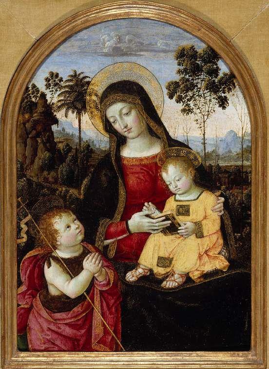 Pinturicchio Bernardino di betto Virgin and Child with St John the Baptist