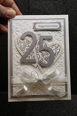 Very Nice Silver Anniversary Card