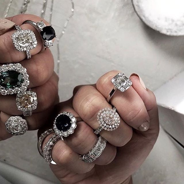 • BLING • A little bling to kick off your Friday • Lusting over these @charlierose_jewelry rings •  #jewellery #bling #engagement #engagementring #engaged #bride #groom #fiancé #wedding #fashion #diamond #diamondring  #Regram via @onedaybridal