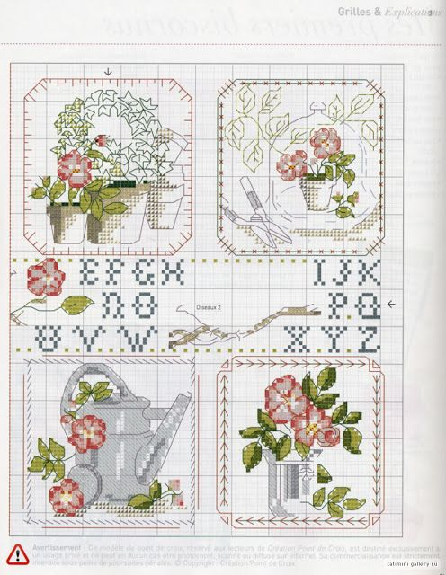 ♥Meus Gráficos De Ponto Cruz♥: Flores e Passarinhos+Monogramas em Ponto Cruz