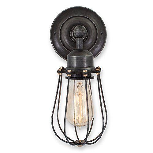 purelume retro vintage k fig lampe wandleuchte inkl 40w. Black Bedroom Furniture Sets. Home Design Ideas