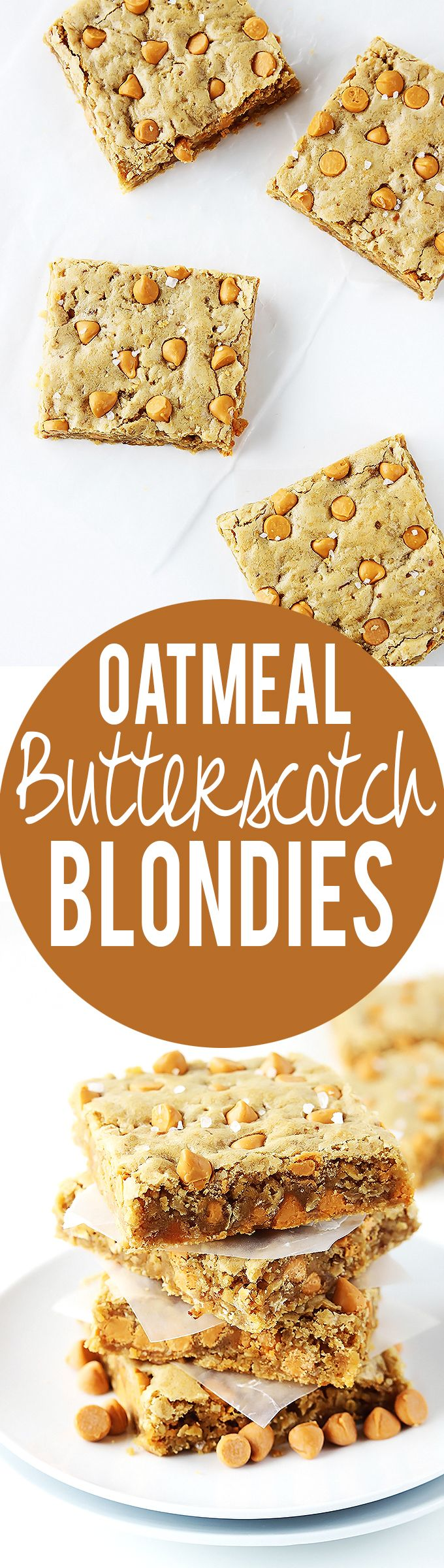 Butterscotch Blondie Oatmeal Cookies Recipe — Dishmaps