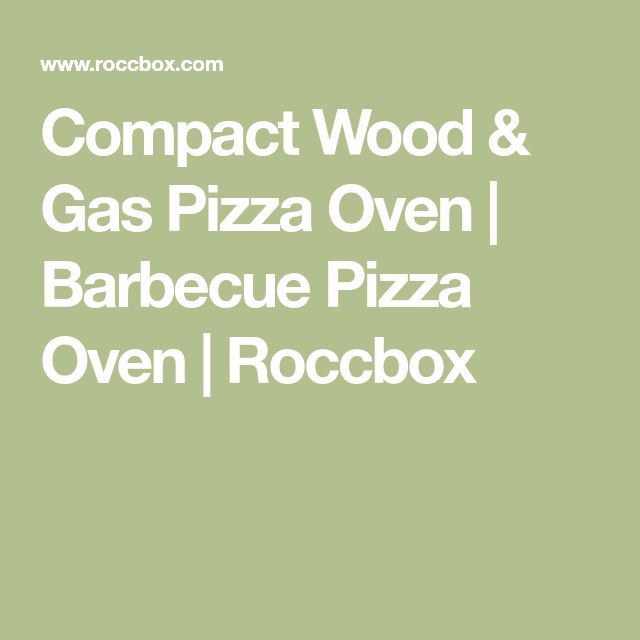 Compact Wood & Gas Pizza Oven | Barbecue Pizza Oven | Roccbox