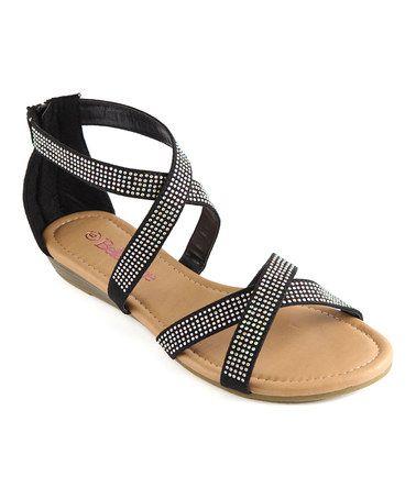 Loving this Black Rhinestone Sony Sandal on #zulily! #zulilyfinds