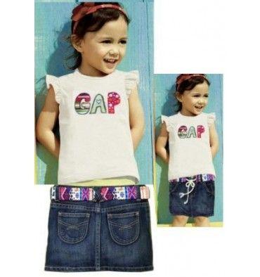 GAP Girls Set - White Denim - sadinashop.com  Baju setelan untuk bayi dan anak.