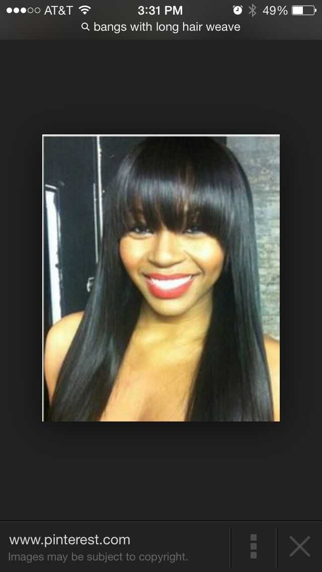 32 best quick weaves images on pinterest quick weave hairstyles straight weave hairstyles with side bangs pmusecretfo Image collections