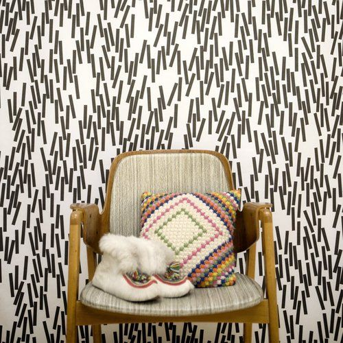 """""""Home sweet home"""" is a collection of wallpapers by Swedish Åsa Dahlbäck."""