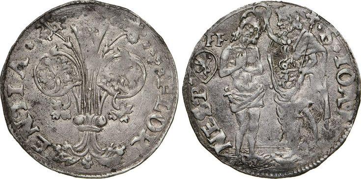NumisBids: Numismatica Varesi s.a.s. Auction 65, Lot 314 : FIRENZE - (1506-1533) Barile da 10 Soldi di Quattrini Bianchi,...