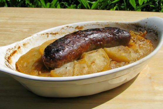 Bratwurst With Apples Onion And Sauerkraut Recipe - Genius Kitchen