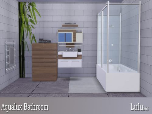 Aqualux Bathroom By Lulu265 For The Sims 4 Spring4sims Sims 4 Cc Furniture Living Rooms Sims 4 Sims