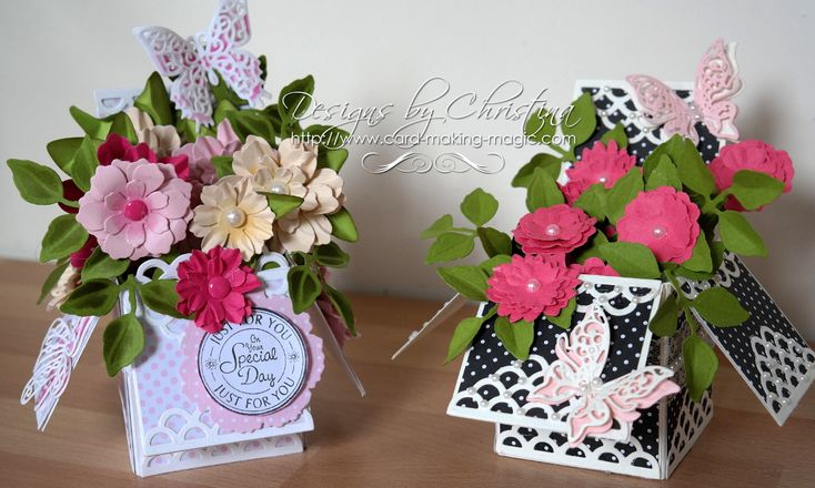 Create this beautiful Spellbinders Pop Up Box and decorate it how you wish.