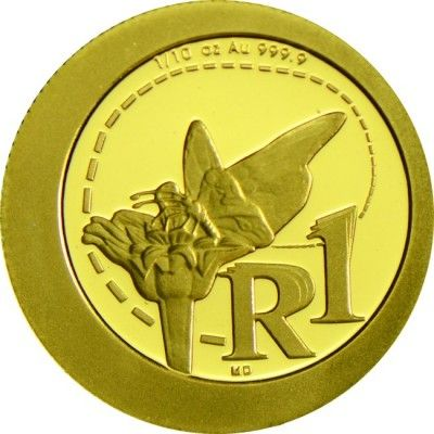 1 Rand Gold Monarchfalter PP