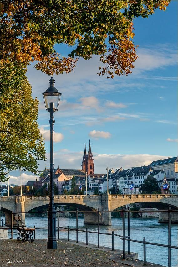 Basel on the river Rhine. Switzerland. Had lunch near here.