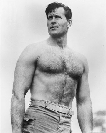 Clint Walker was a strapping young man of 1/4 Cherokee descent; he stood 6' 6 and reportedly had a 48 chest.