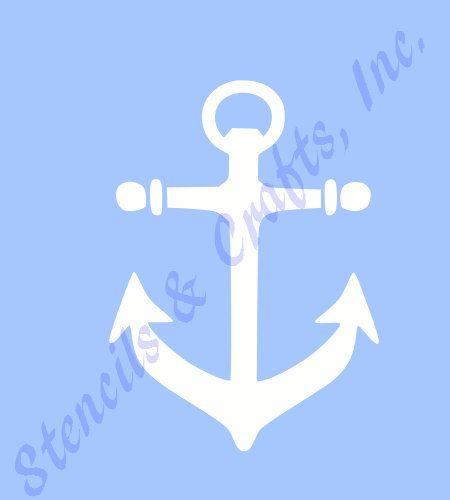 FREE SHIPPING!! (U.S. ONLY).  THIS IS A BEAUTIFUL BRAND NEW ANCHOR MINI BLUE TRANSPARENT STENCIL TEMPLATE. YOU CAN USE THIS STENCIL OVER AND OVER