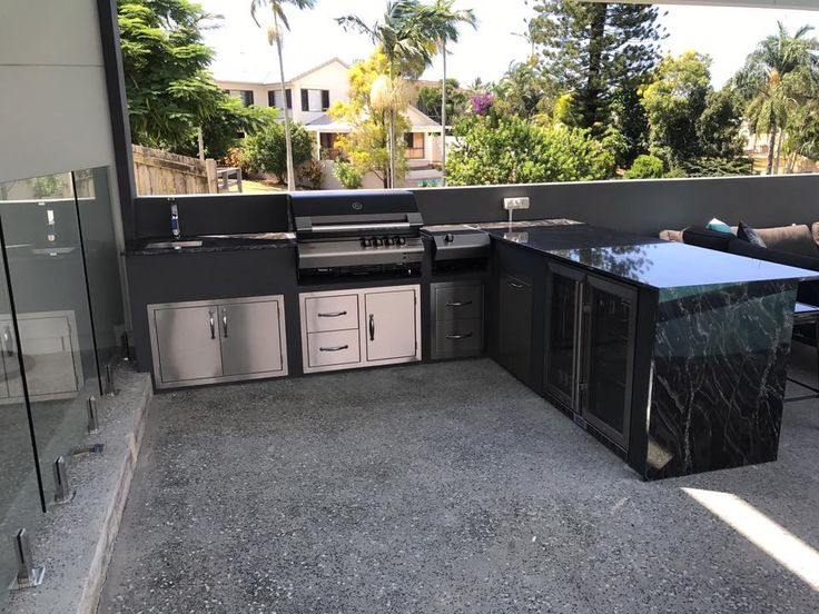 this stunning bbq kitchen was built by paul in queensland using our stainless steel and hebel on outdoor kitchen queensland id=11607