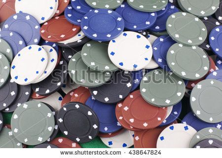 Colored poker chips