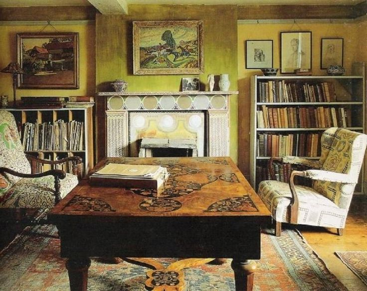Clive Bell's study at Charleston…