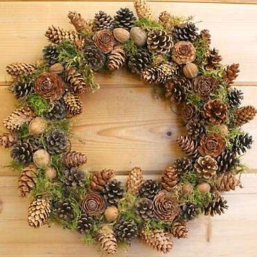 Checkout this amazing product Pinecone and walnut wreath at Shopintoit