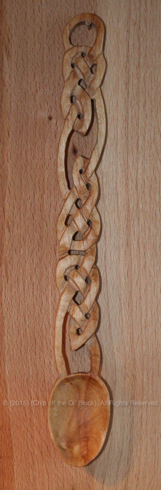 Celtic Twist carved from a piece of local Beech