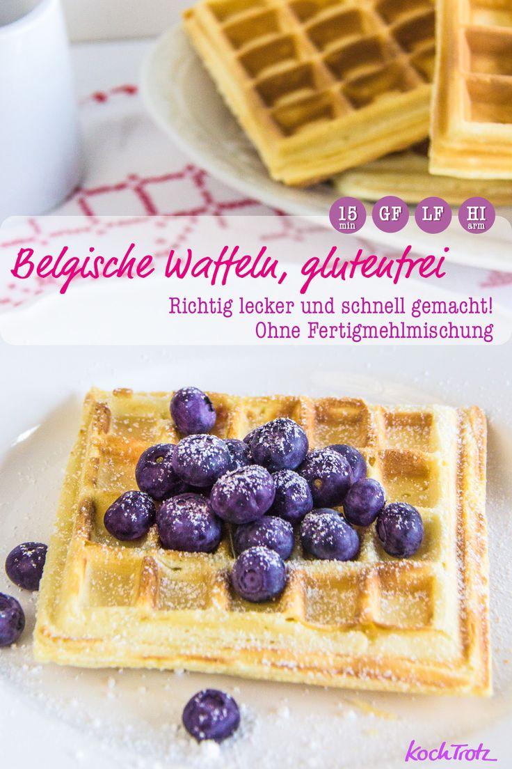 Glutenfreie belgische Waffeln | ohne Fertigmehlmischung