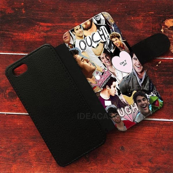Topman Collage Darren Criss Wallet Cases | ideacases.com - cute graphic tees    ORDER HERE => https://ideacases.com/shop/