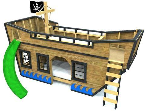 Sea King Pirate Ship Bunk Bed Plan