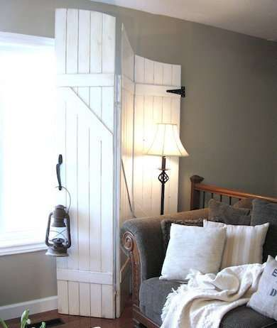 Try a trifold gate as a window treatment