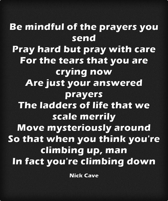nick cave's wisdom. oh my god song lyrics..