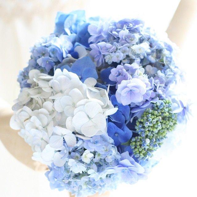 6月になったので、紫陽花のブーケです。結婚式