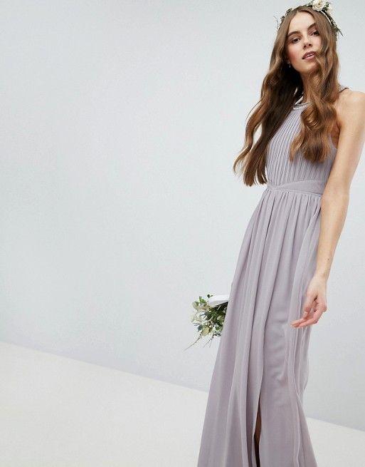93297d32315 TFNC Tall Embellished Back Detail Maxi Bridesmaid Dress