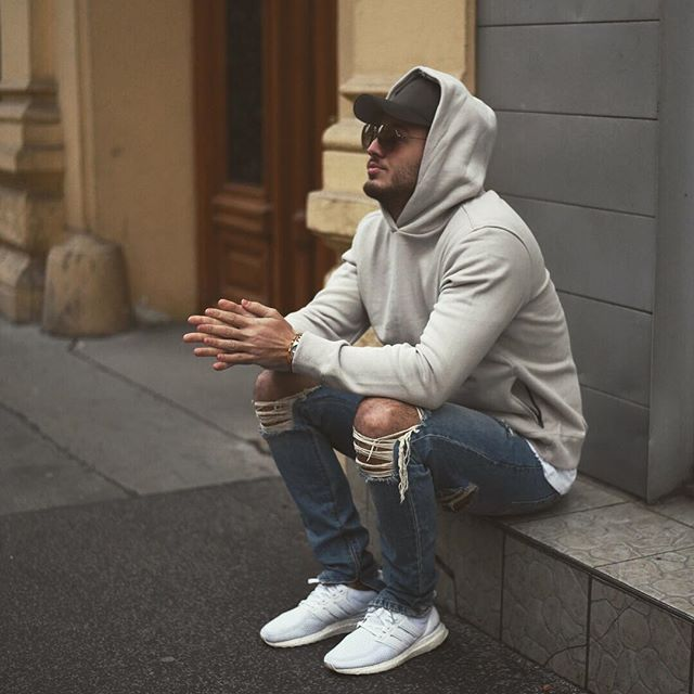 WEBSTA @ philippegazarstyle - Ripped jeans and #ultraboost