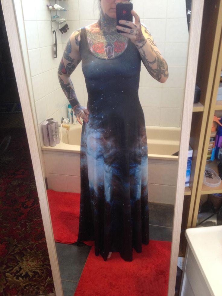 Galaxy Black maxi dress