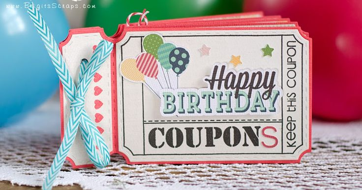 "Brigit's Scraps ""Where Scraps Become Treasures"": Jaded Blossom March Release - Birthday Coupon Book"