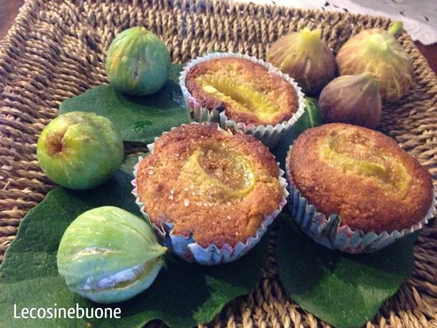 Muffins integrali con polpa di fichi #muffin #muffins #fichi