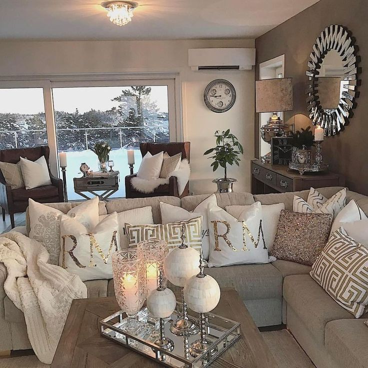 Best 25 silver living room ideas on pinterest entrance - Red black and white themed living room ...