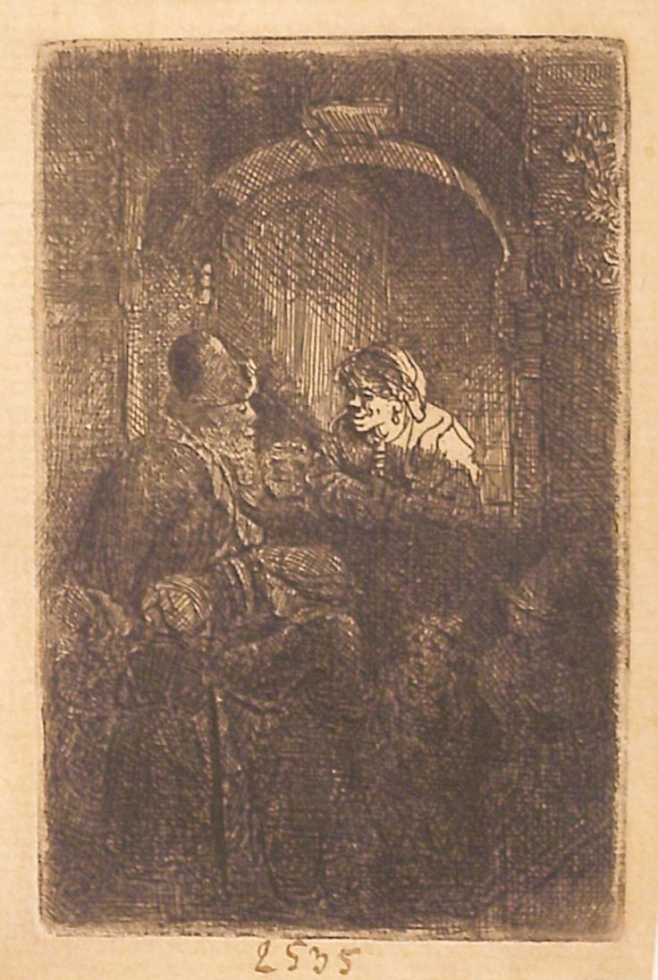"""Învățătorul, 1641, semnată și datată în centru: Rembrandt f. 1641. Imagine din colecțiile Bibliotecii """"V.A. Urechia"""" Galați."""