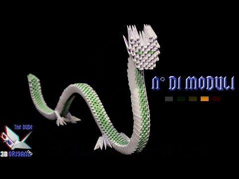[ORIGAMI 3D ITA] Drago Cinese Tutorial || Origami Decorativi/Animali - YouTube