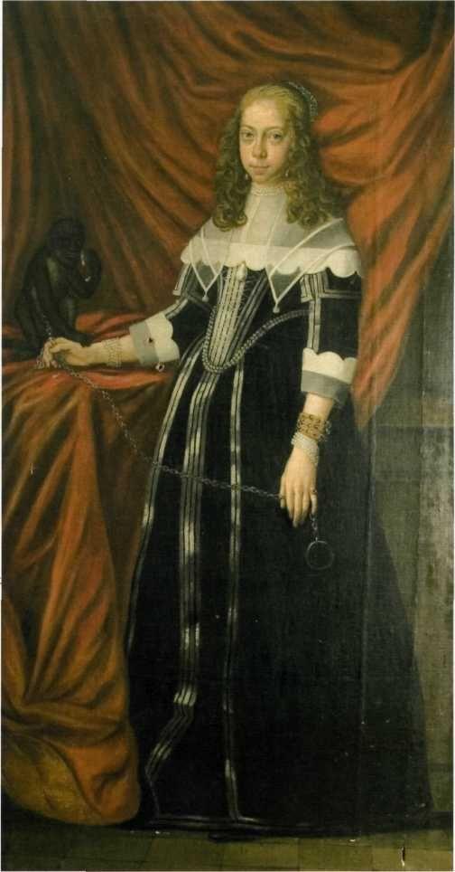 Портрет Елизаветы Софии Гильденлове (1633-1654). 1648 год, Дания.