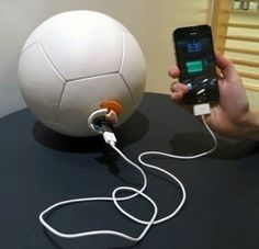 A Soccer Ball that also Generates Energy to become a Charger
