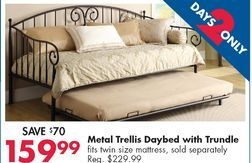 Metal Trellis Daybed With Trundle From Big Lots 159 99