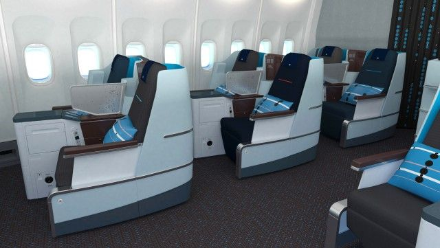 KLM World Business Class cabin interior – The full flat chair | Jongeriuslab design studio