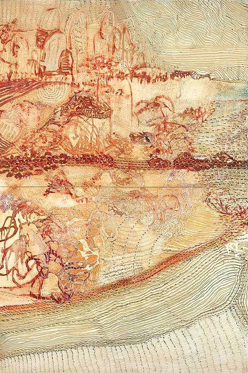 Joshua Yeldham      Red Wood - Hawkesbury River                                             Oil, Ink and Acrylic on Board,182 x 122 cm