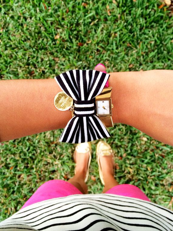 The Meet Me in Paris Bow Bracelet by kaitlinkendalldesign on Etsy, $20.00